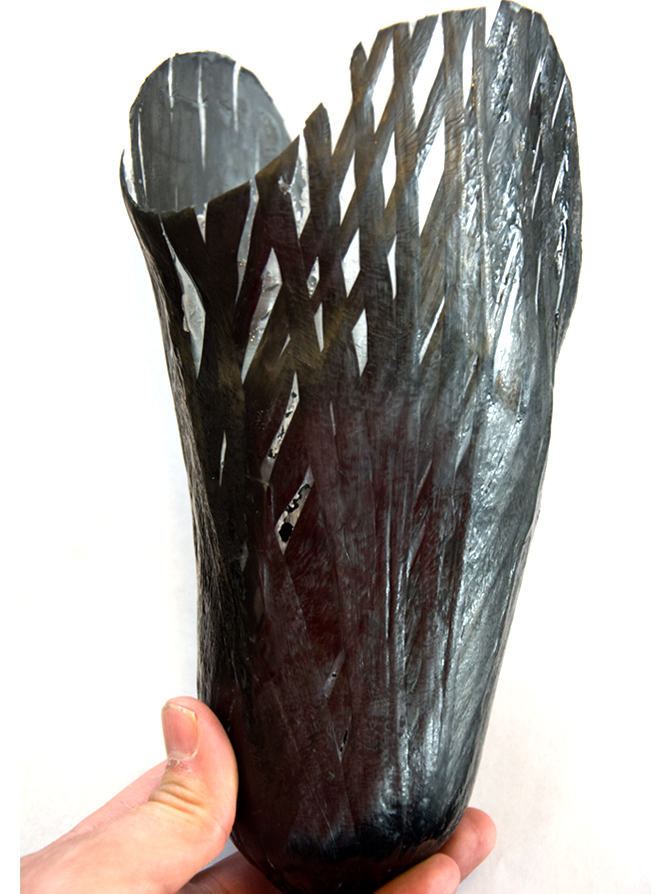 carbon fiber prothesis In newer and more improved designs, hydraulics, carbon fiber, mechanical linkages,  open-source robotic prothesis there is currently an open design.